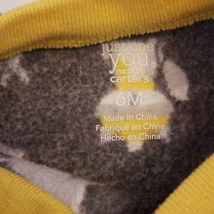 Carter's One Pieces - CARTER'S fleece 2 wolf footies & snowman sleep sak